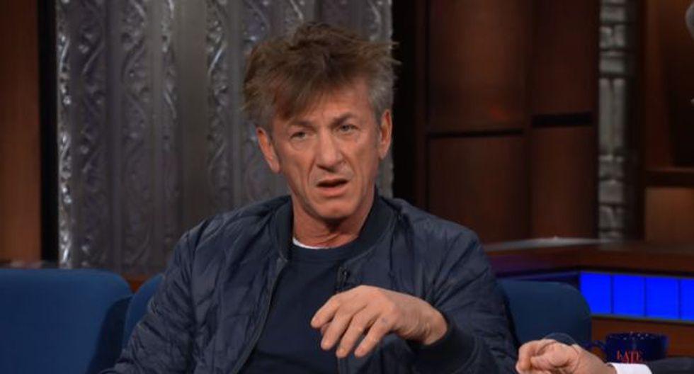 "Sean Penn en el programa ""The late Show"". (Captura de video)"