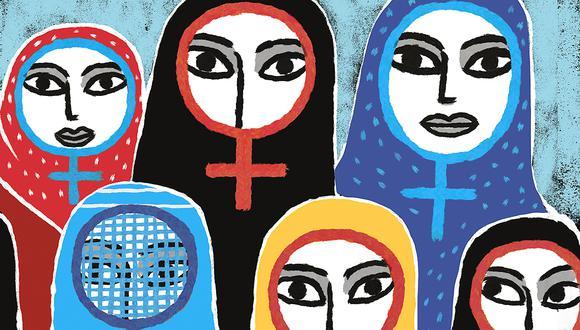 Los debates del feminismo islámico son mucho más complejos que el uso (o no) de determinados tipos de velos. (Ilustración: Víctor Aguilar)