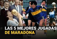 Diego Maradona: Las cinco mejores jugadas del ídolo del fútbol