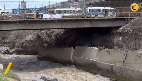 MML descarta que caudal del río Rímac esté debilitando puentes