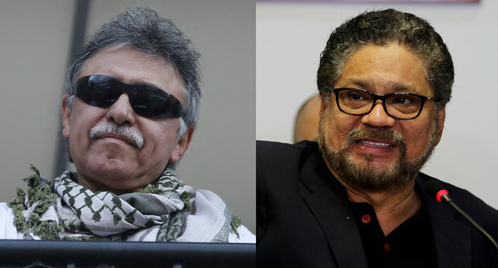 Jesús Santrich e Iván Márquez son buscados por Estados Unidos. (EFE/LEONARDO MUÑOZ - AP/Fernando Vergara).