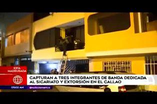 Callao: Policía interviene a presuntos miembros de una banda de sicarios y extorsionadores
