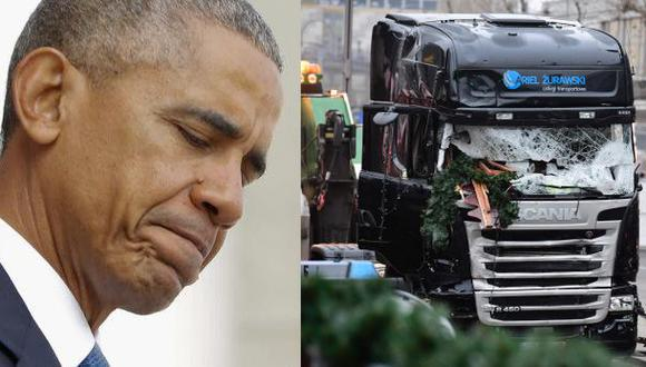 Obama ofrece ayuda a Merkel tras el ataque en mercado de Berlín