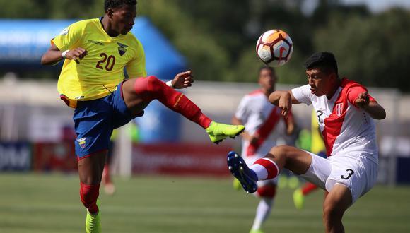 Perú vs. Ecuador juegan desde las 3:10 de la tarde EN VIVO y EN DIRECTO por lal cuarta fecha del Sudamericano Sub 20. Sigue el minuto a minuto aquí. (Foto: AFP)