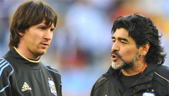 Diego Maradona se pronuncia sobre relación entre Messi y Barcelona. (AFP)