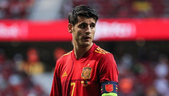 Álvaro Morata no pudo marcar en el empate sin goles entre España y Suecia por la Eurocopa. (Getty)