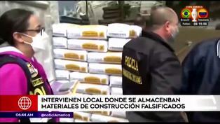 Intervienen local donde se almacenaban materiales de construcción falsificados