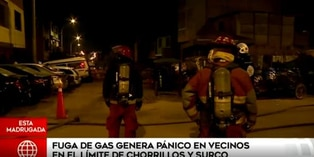 Fuga de gas causó pánico en residentes de Surco y Chorrillos