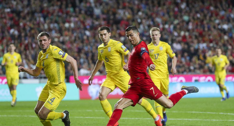 Portugal vs. Ucrania EN VIVO EN DIRECTO: con Cristiano Ronaldo, juegan por las eliminatorias para la Eurocopa 2020. (Foto: EFE)