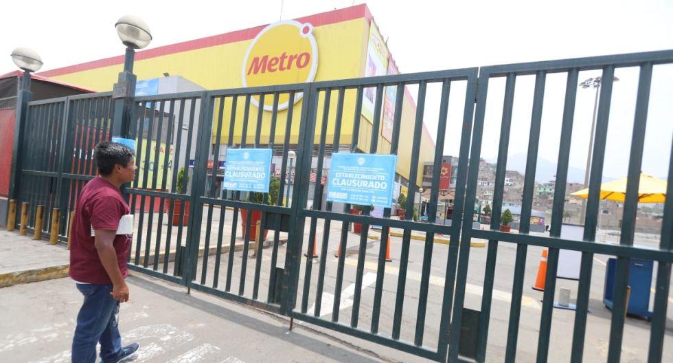 Centro comercial de Cencosud fue clausurado por el municipio de Comas de manera indeterminada hasta que se comprueben las condiciones de seguridad. (Foto: Eduardo Cavero)