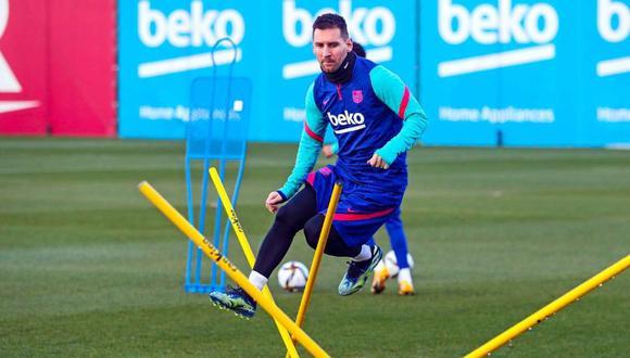 Lionel Messi volvió a la convocatoria de Barcelona. (Foto: @FCBarcelona_es)