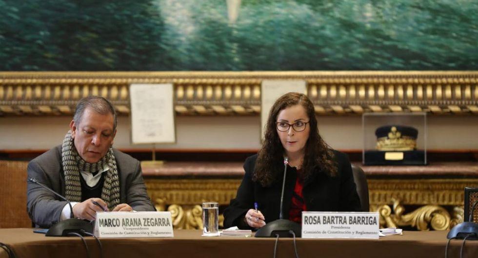 Rosa Bartra  fue reelegida como presidenta de la Comisión de Constitución. (Foto: Gian Carlos Águila / GEC)