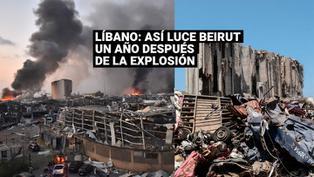 Líbano: las imágenes que dejó las explosiones en el puerto de Beirut un año después