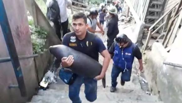 Iquitos: rescatan a manatí que iba a ser sacrificado y comercializado | VIDEO