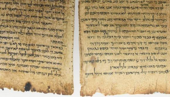 La mayoría de los Rollos del Mar Muerto están escritos en hebreo. (GETTY IMAGES)