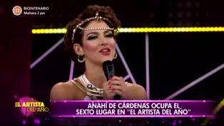Anahí de Cárdenas queda fuera de 'El artista del año'