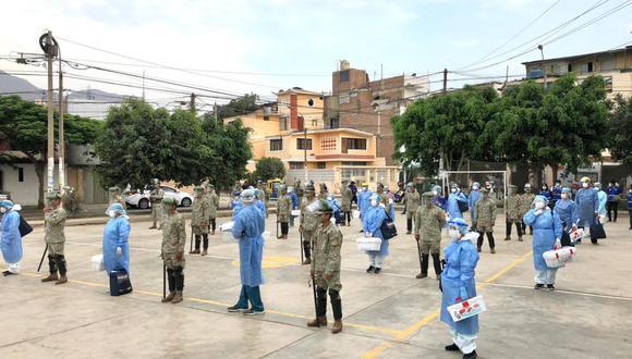 Operación Tayta benefició a familias de 11 distritos de Lima y 6 regiones del país. (Foto: Mindef)