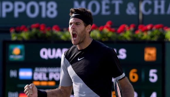 Del Potro vs. Raonic: hoy EN VIVO por ESPN por semifinales de Indian Wells. (Foto: Agencias)