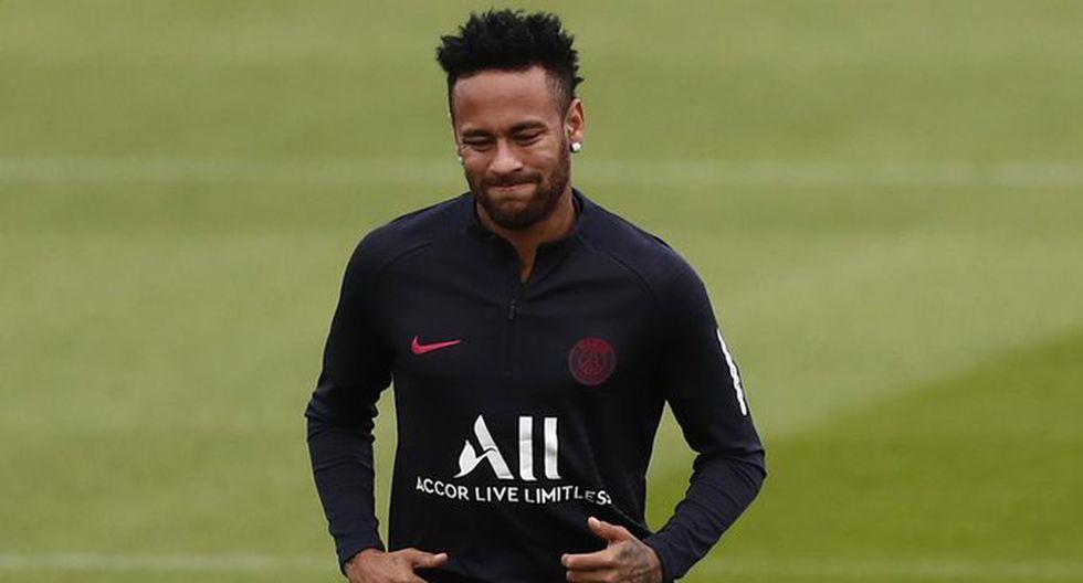 Neymar entrenando con el París-Saint Germain. (Foto: EFE)