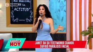 """Janet Barboza sobre parálisis facial: """"Pensé que era una pesadilla"""""""