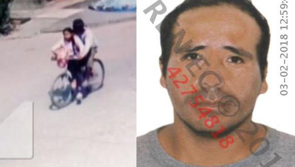 La imagen de la niña siendo transportada en San Juan de Lurigancho por el sujeto fue difundida por Latina. Es el último registro de la menor con vida.  (Captura)