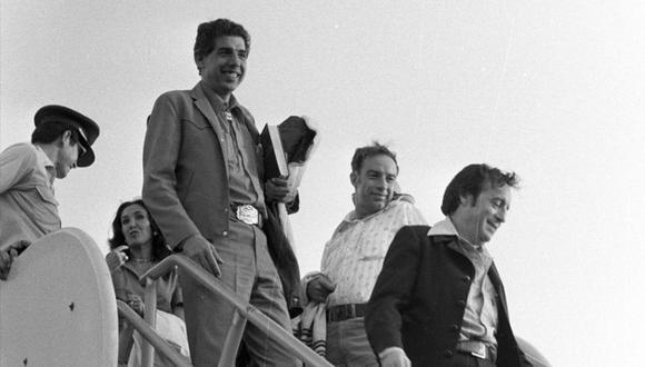 Florinda Meza, Rubén Aguirre y Roberto Gómez Bolaños. Lima, 1979. FOTO: Archivo Histórico El Comercio.
