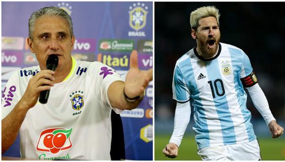 """Tite elogió a Messi: """"Hubiera querido que naciera en Brasil"""""""