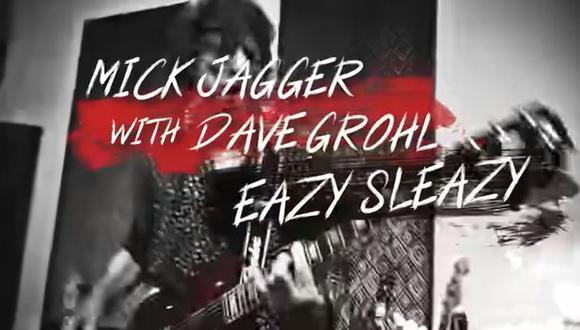 """Mick Jagger sorprende con el estreno de """"Eazy Sleazy"""" junto a Dave Grohl. (Foto: captura de video)"""