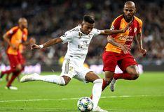 Real Madrid: Rodrygo cruzó el balón para completar su hat trick frente al Galatasaray en el Santiago Bernabéu