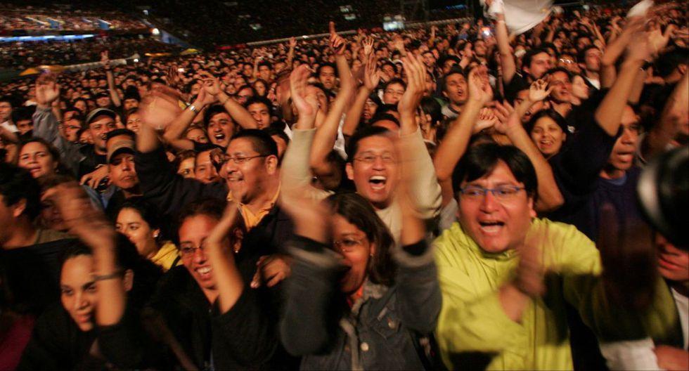 """""""Me verás volver"""" reunió a 100 peruanos en el Estadio Nacional. (Foto: Richard Hirano/ El Comercio)"""