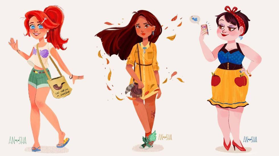 Las princesas Disney convertidas en Millennials [FOTOS] - 1