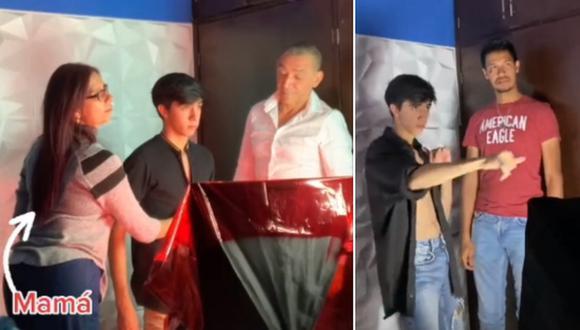 Un tiktoker ha causado sensación en Internet por revelar que graba sus bailes con ayuda de sus padres y su hermano. (Foto: @wilcuram / TikTok)