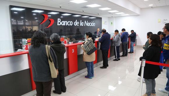 La campaña de pagos se realizará de acuerdo con el cronograma establecido, según el orden alfabético de los apellidos. (Foto: Banco de la Nación)