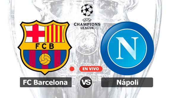 La llave está abierta. Barcelona y Napoli definen la clasificación a cuartos de final en el Camp Nou. ¿Quién seguirá en carrera? | Foto: Composición
