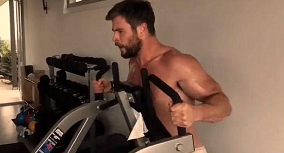 """Chris Hemsworth, quien encarnó a """"Thor"""", lanzó su propia aplicación en la que se puede seguir sus intensas rutinas de ejercicios. (Foto: Captura)"""
