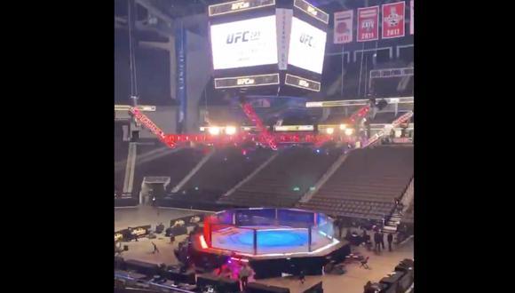 Así luce la arena previo al UFC 249   Foto: Captura