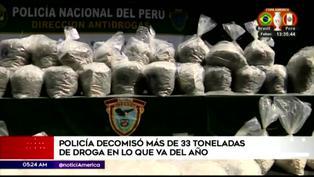 Policía Nacional decomisó más de 33 toneladas de droga en lo que va del año