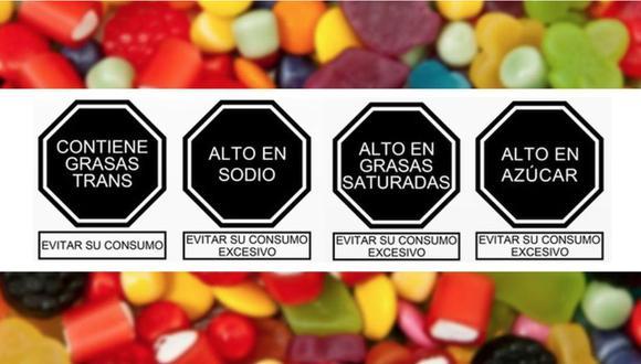 Se trata de un sistema de advertencia en los alimentos procesados y bebidas azucaradas. (Imagen: Difusión)