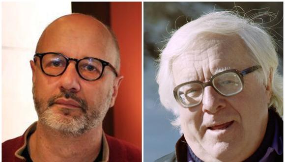 """El escritor Rodrigo Fresán (izquierda) es responsable del prólogo de la edición especial de """"Crónicas Marcianas"""" (Minotauro) que conmemora los 100 años de Ray Bradbury (derecha). (Foto: El Comercio/AFP)"""