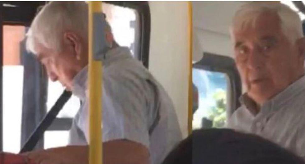 Una pasajera grabó a sujeto que se masturbó en un bus de transporte público. (Facebook)