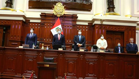 El pleno del Congreso rindió un homenaje póstumo a la figura histórica de Acción Popular, Javier Alva Orlandini. (Foto: Congreso)