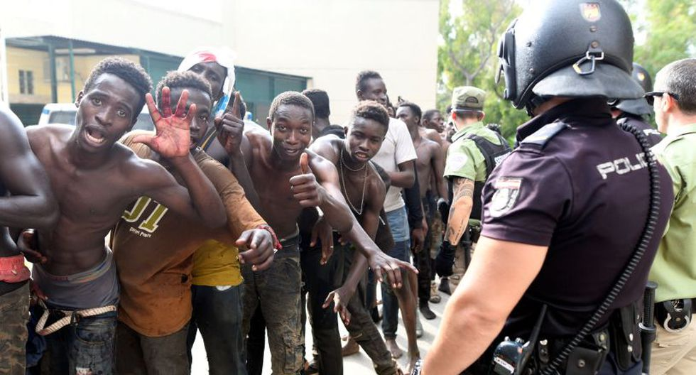 Los 116 subsaharianos accedieron a Ceuta por la zona de Finca Berrocal, el mismo lugar por donde el pasado 26 de julio consiguieron entrar otras 602 personas. (Foto: Reuters)
