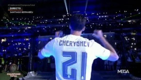 Álvaro Arbeloa celebró la 'Undécima' con camiseta de Cheryshev
