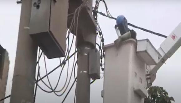 Enel detectó que inmueble que funciona como fábrica de caucho utilizaba conexiones eléctricas clandestinas. (Captura: Canal N)