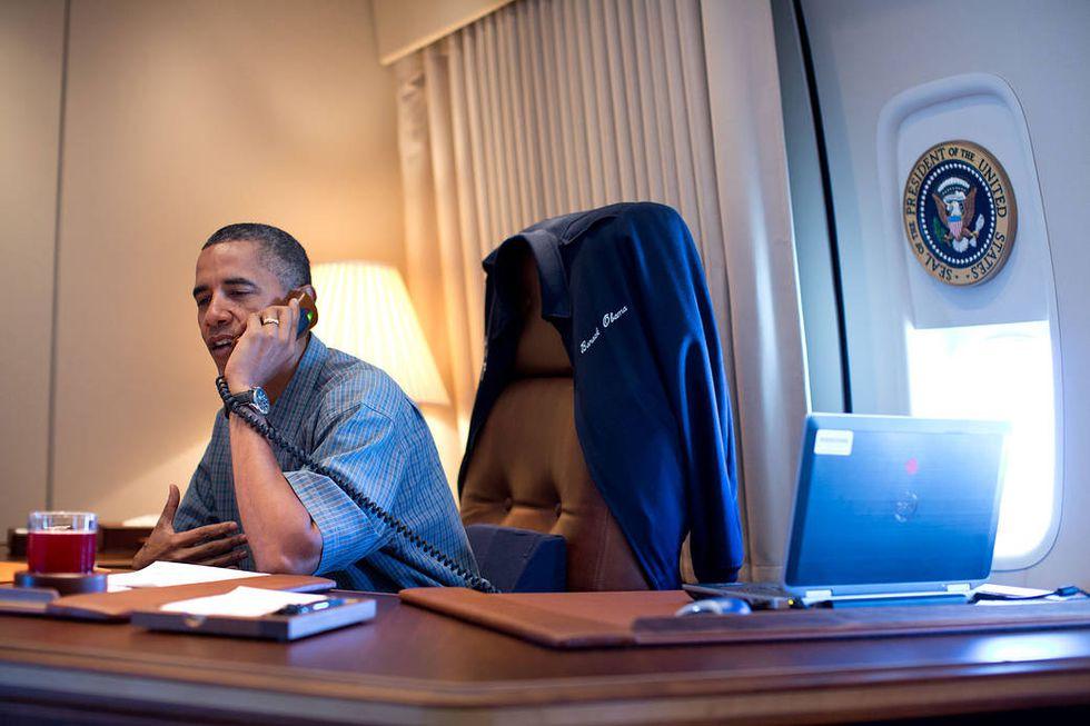 Barrack Obama felicita al equipo responsable del Curiosity (Foto: NASA)