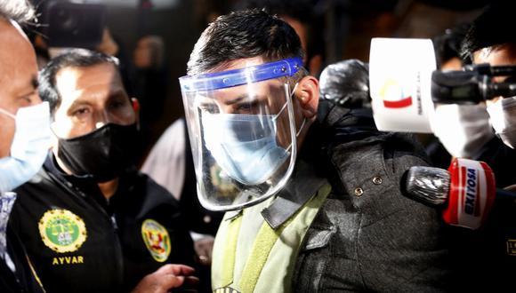 Job Luque Ayala cuando fue detenido por la Policía al estar involucrado en el caso de la discoteca Thomas Bar. (César Bueno/ GEC)