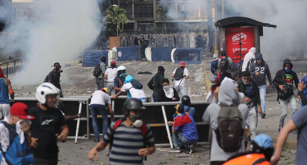 Venezuela: se registran serios disturbios en Caracas tras la juramentación de Juan Guaidó. (EFE).