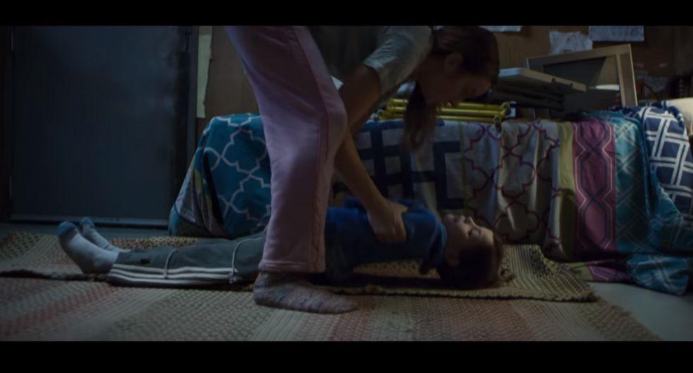 "Brie Larson en ""Room"" | Foto: Captura de pantalla"