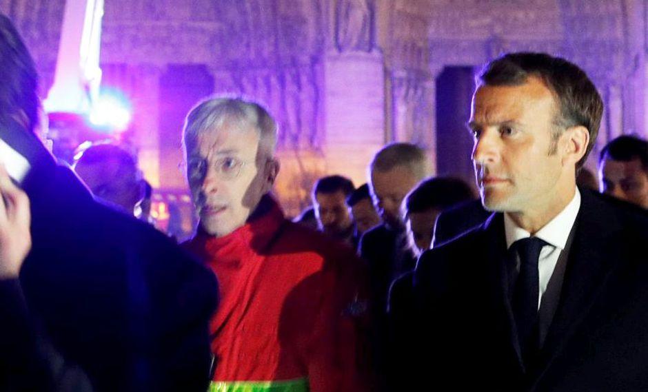 """Incendio en la catedral de Notre Dame   Emmanuel Macron: """"Reconstruiremos Notre Dame todos juntos"""". (AFP)"""