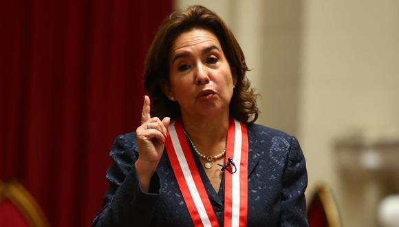 Elvia Barrios, presidenta del Poder Judicial, dijo que cada autoridad deberá responder si no acata una resolución. (Foto: Archivo El Comercio)